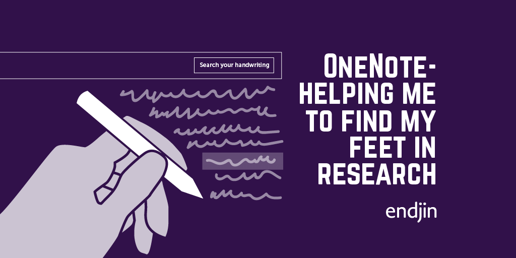OneNote - helping me to find my feet in research