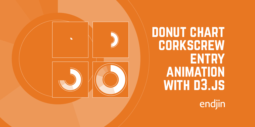 Donut chart corkscrew entry animation with d3.js