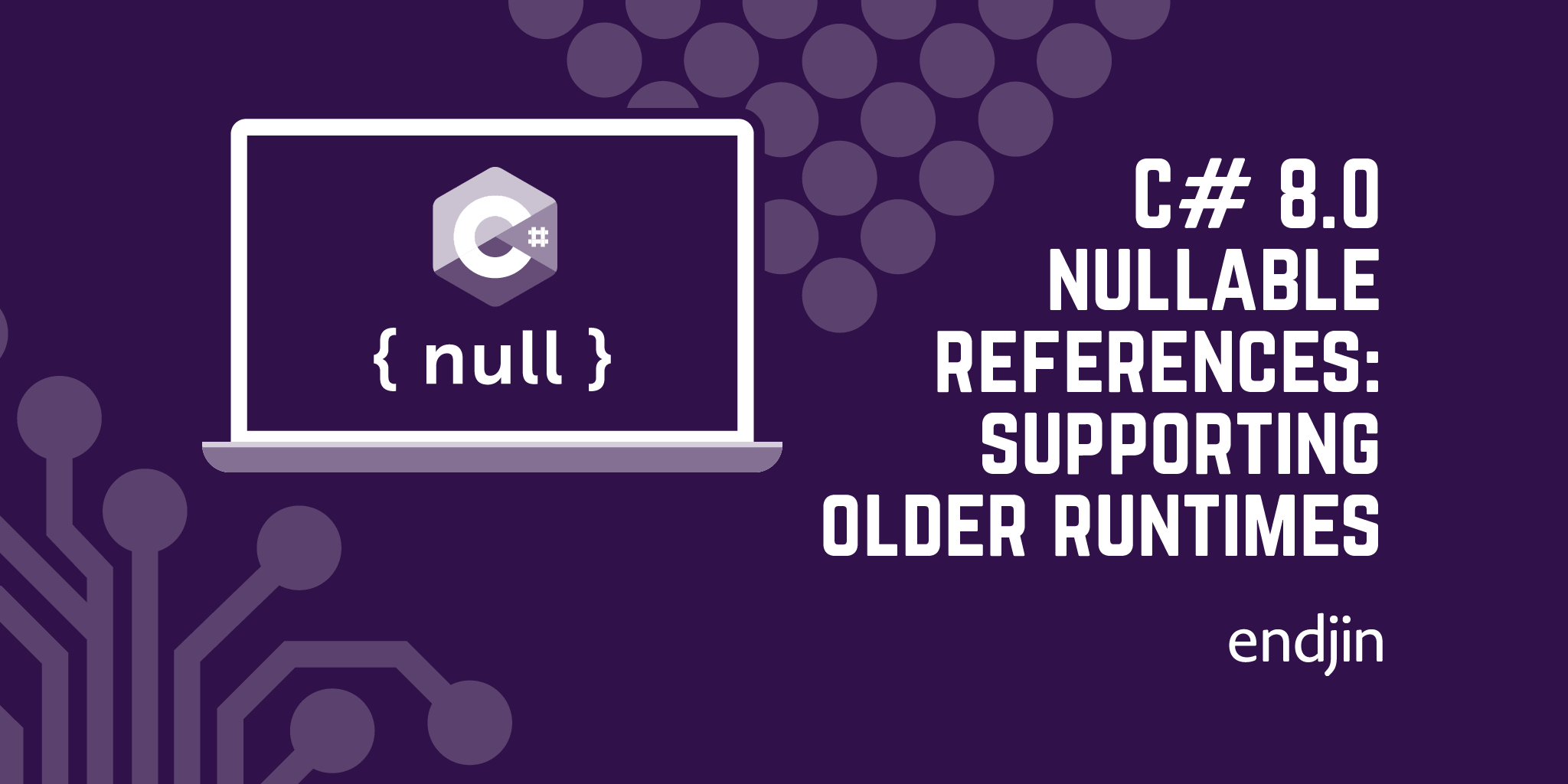 C# 8.0 nullable references: supporting older runtimes