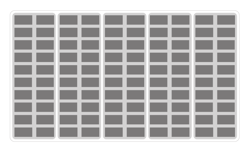 Graphic illustrating a grid and column layout