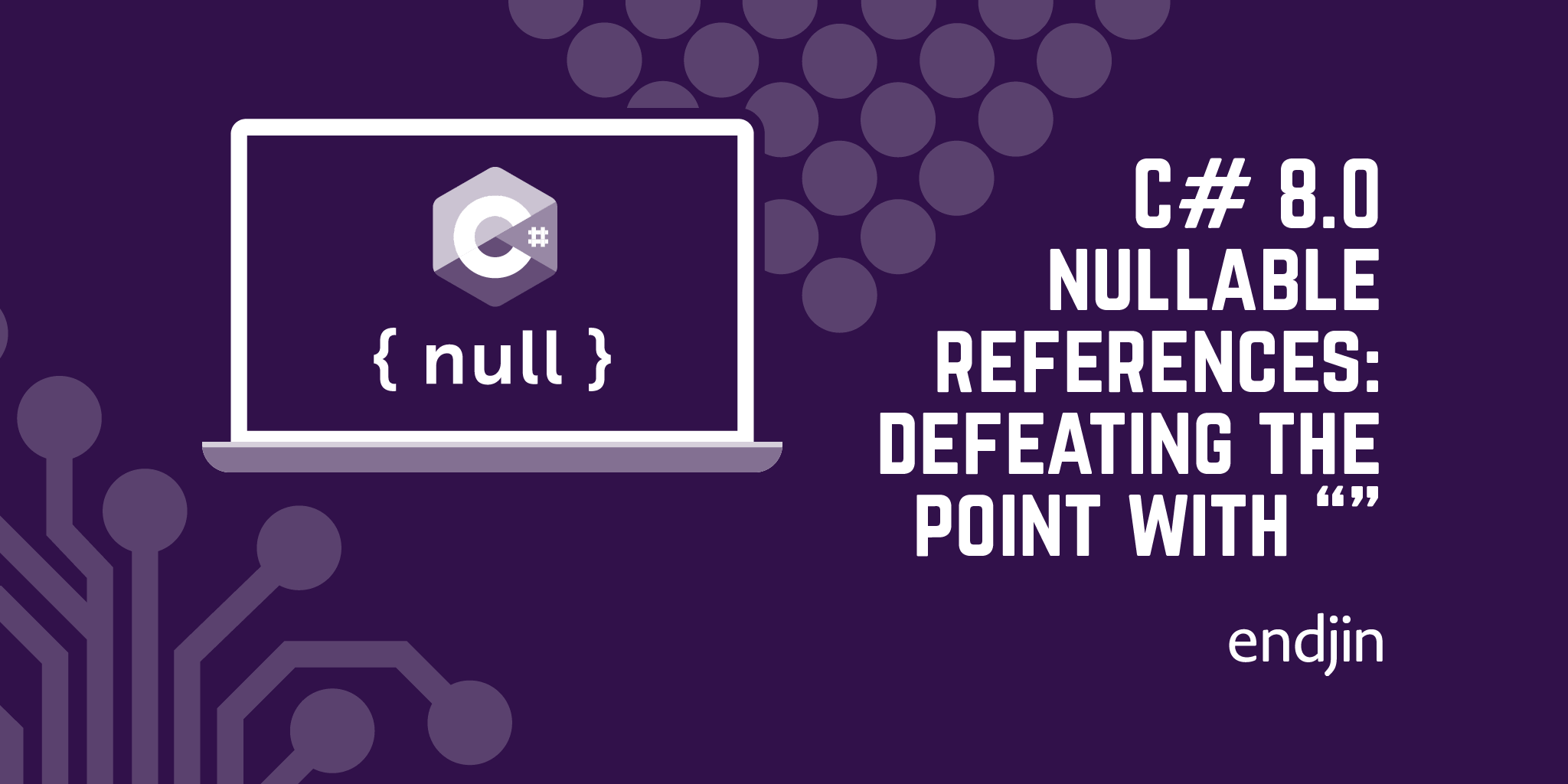 C# 8.0 nullable references: defeating the point with empty strings