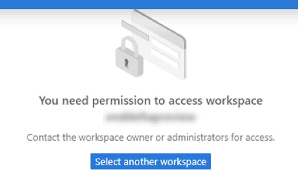 'You need permission to access this workspace' error in Synapse Studio.