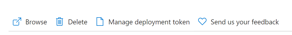 """Image showing """"Manage Deployment Token"""" button."""