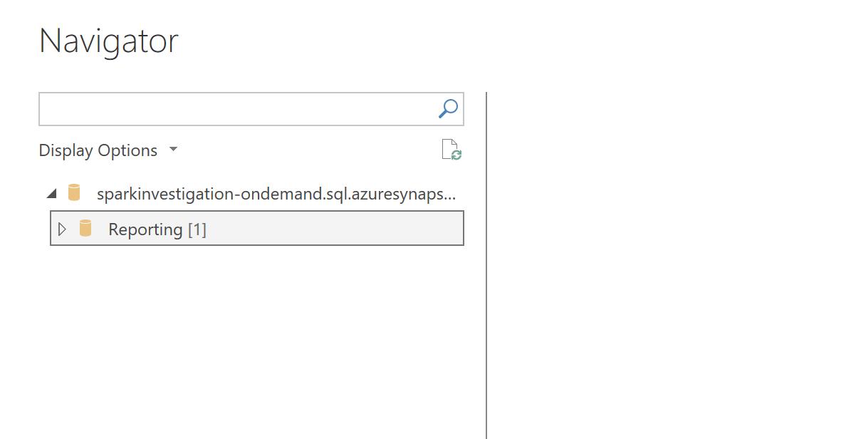 Viewing the reporting database within Power BI desktop