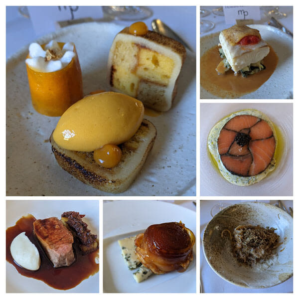 The 6 course meal we enjoyed at MJP @ The Shepherds in Fen Ditton, Cambridge
