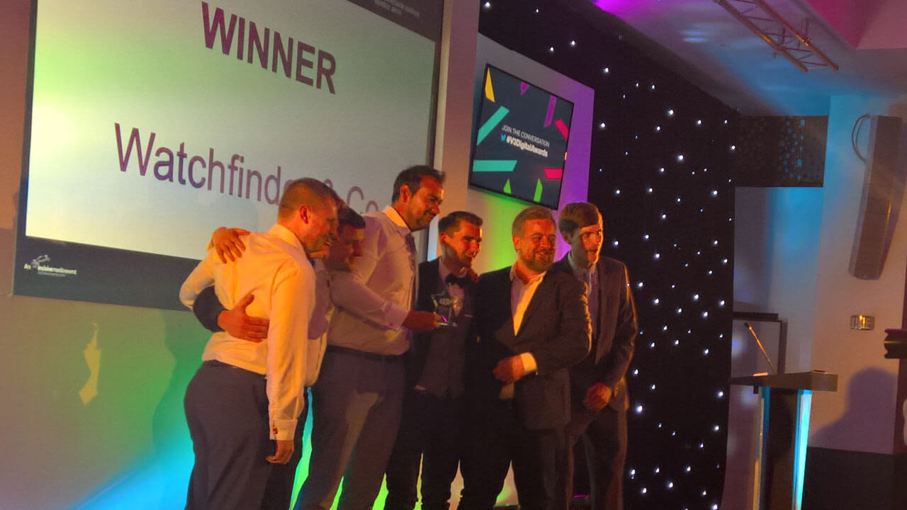 Watchfinder win at the V3 awards