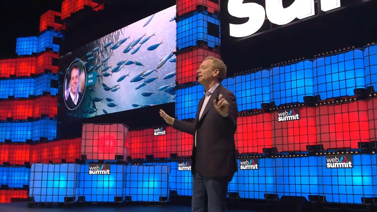 OceanMind featured in Microsoft President, Brad Smith's Web Summit 2019 Keynote.