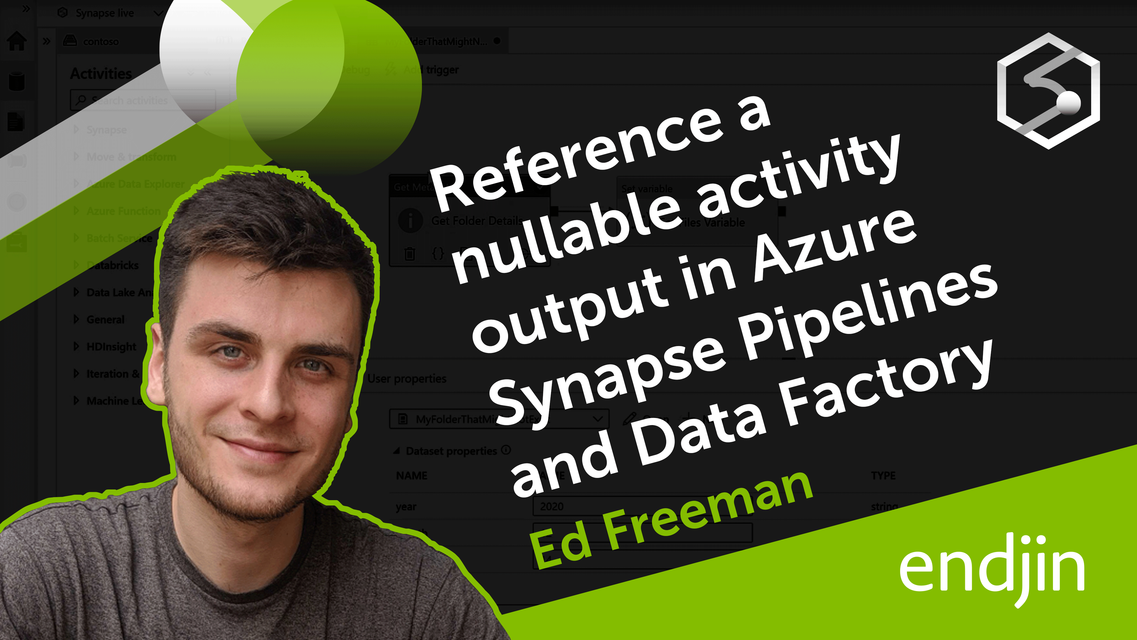 How to safely reference a nullable activity output in Azure Synapse Pipelines and Azure Data Factory