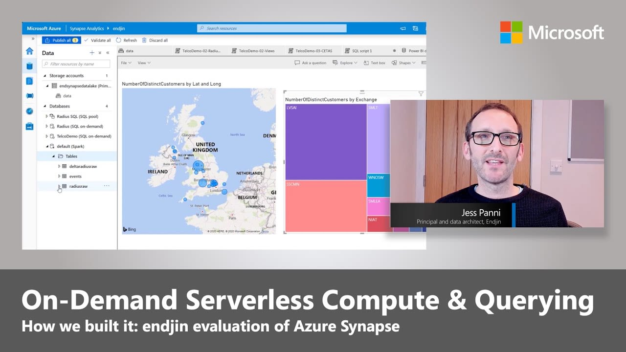 Azure Synapse - On-Demand Serverless Compute and Querying