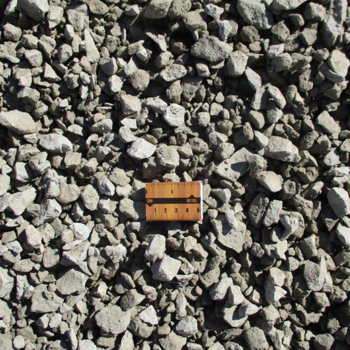 Gravel with the size of 4-16