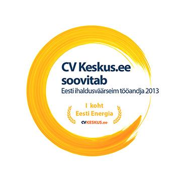 1. koht - Eesti ihaldusväärseim tööandja 2013