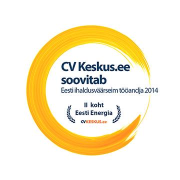 2. koht - Eesti ihaldusväärseim tööandja 2014