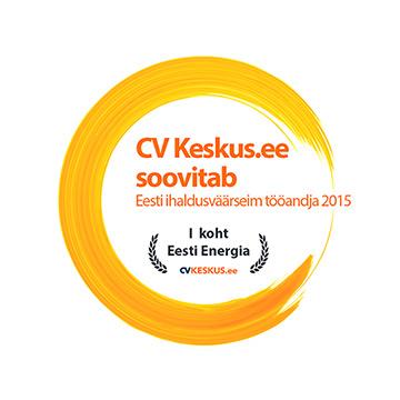 1. koht - Eesti ihaldusväärseim tööandja 2015