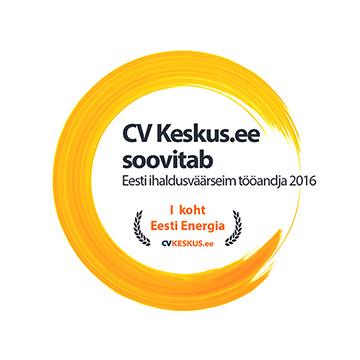1. koht - Eesti ihaldusväärseim tööandja 2016