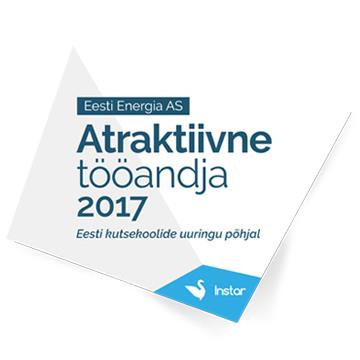 1. koht - Atraktiivne tööandja 2017, Eesti kutsekoolide uuringu põhjal