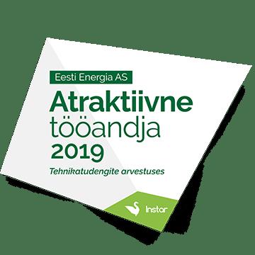 2. koht - Atraktiivne tööandja 2019. aasta tehnikatudengite arvestuses