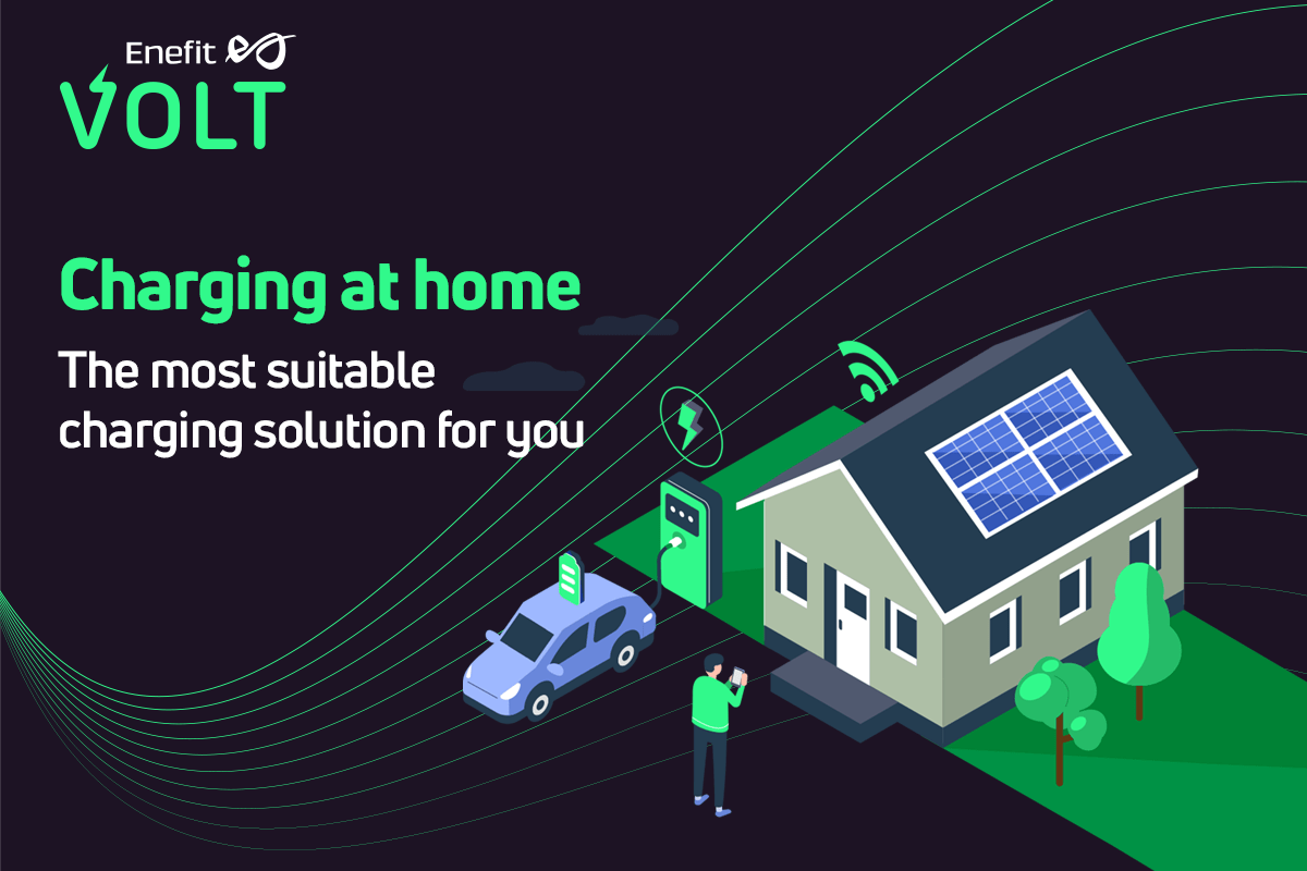 The updated website of Enefit Volt helps you find the most suitable smart charger for your home