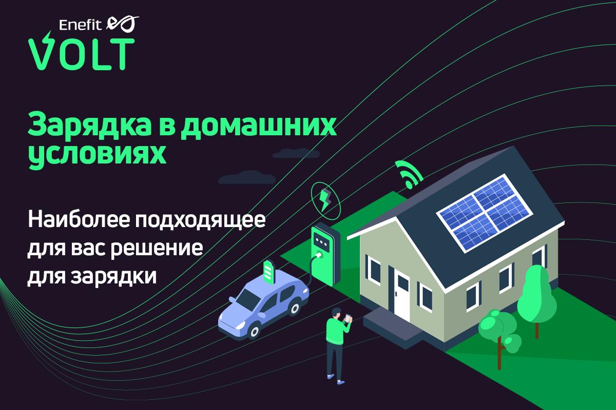 На обновленной домашней странице Enefit Volt вы найдете самое подходящее умное зарядное устройство для дома