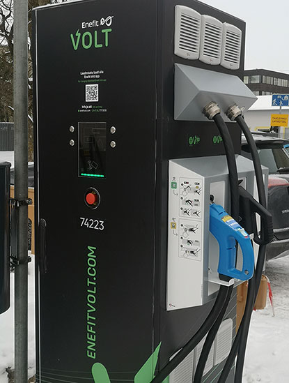 Saaremaa received its first fast charging station for European electric cars in Kuressaare