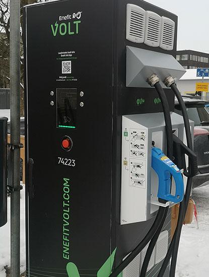 Paigaldasime Kuressaarde Saaremaa esimese Euroopa autode kiirlaadimisjaama