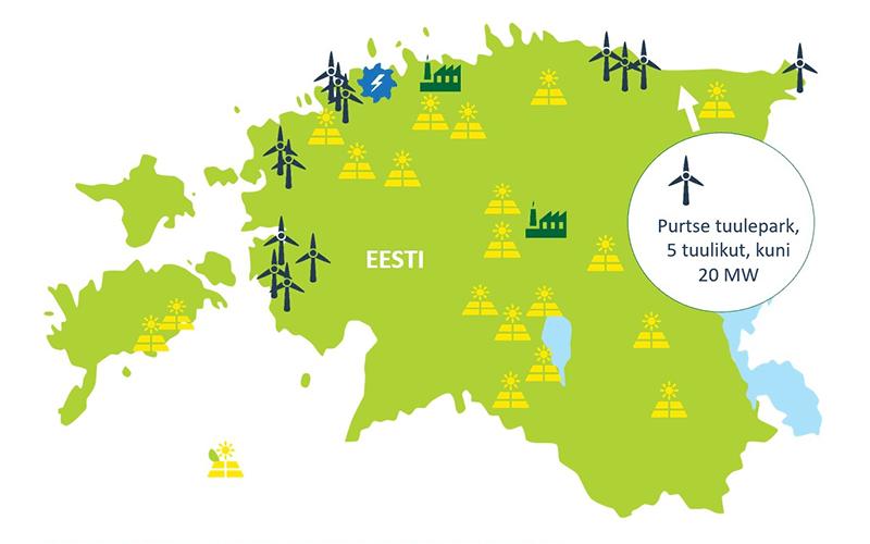 Enefit Green ehitab valmis Purtse tuulepargi