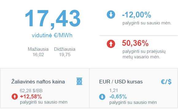 Energijos rinkos apžvalga | 2021 vasario mėn
