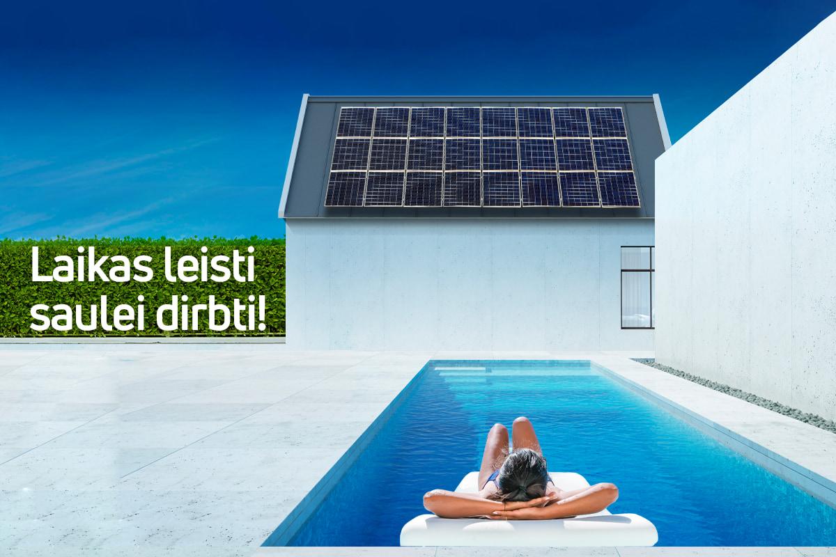 Registracija į nuotolinius seminarus apie saulės elektrines