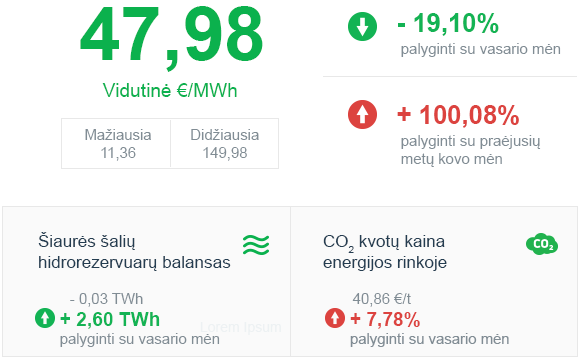 Energijos rinkos apžvalga | 2021 kovo mėn.
