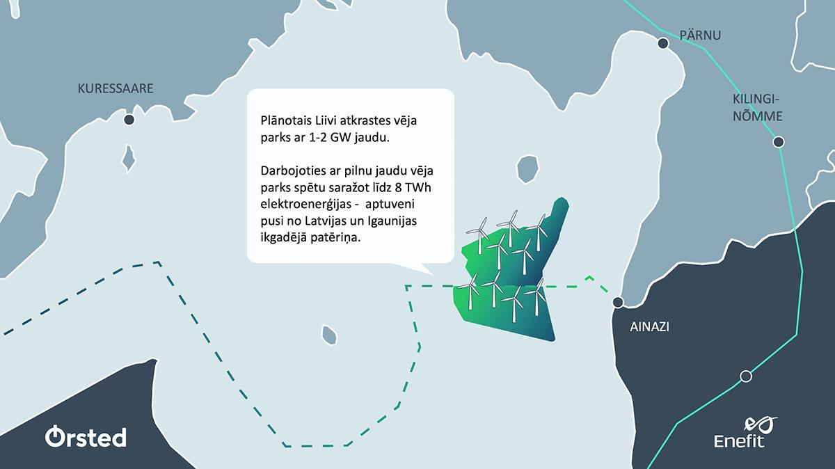 Ørsted un Enefit paraksta memorandu par liela mēroga vēja parku attīstību Baltijas jūrā