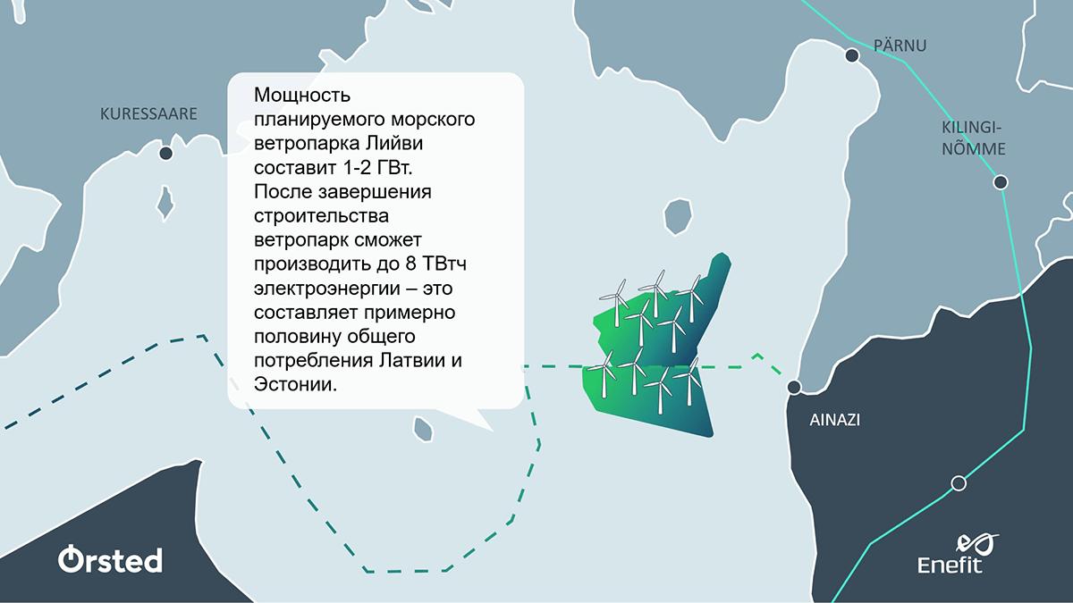 Eesti Energia и Ørsted объединят усилия для строительства первого морского ветропарка в странах Балтии