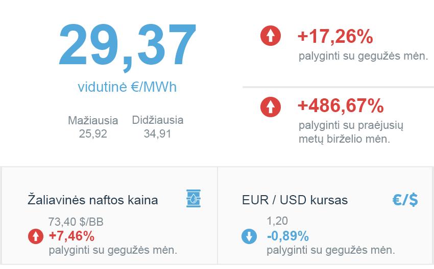 Energijos rinkos apžvalga | 2021 birželio mėn.