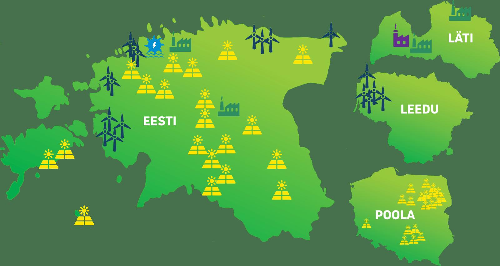 Toodame täna taastuvenergiat Eestis, Lätis, Leedus ja Poolas