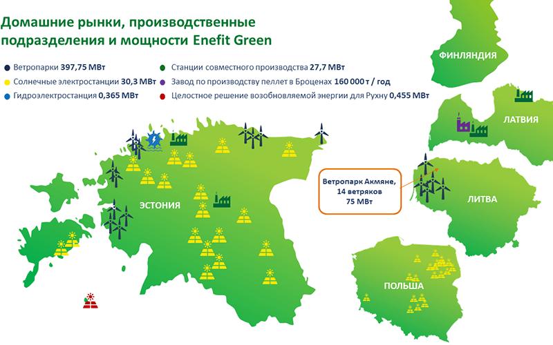 Enefit Green строит в Литве свой крупнейший ветропарк