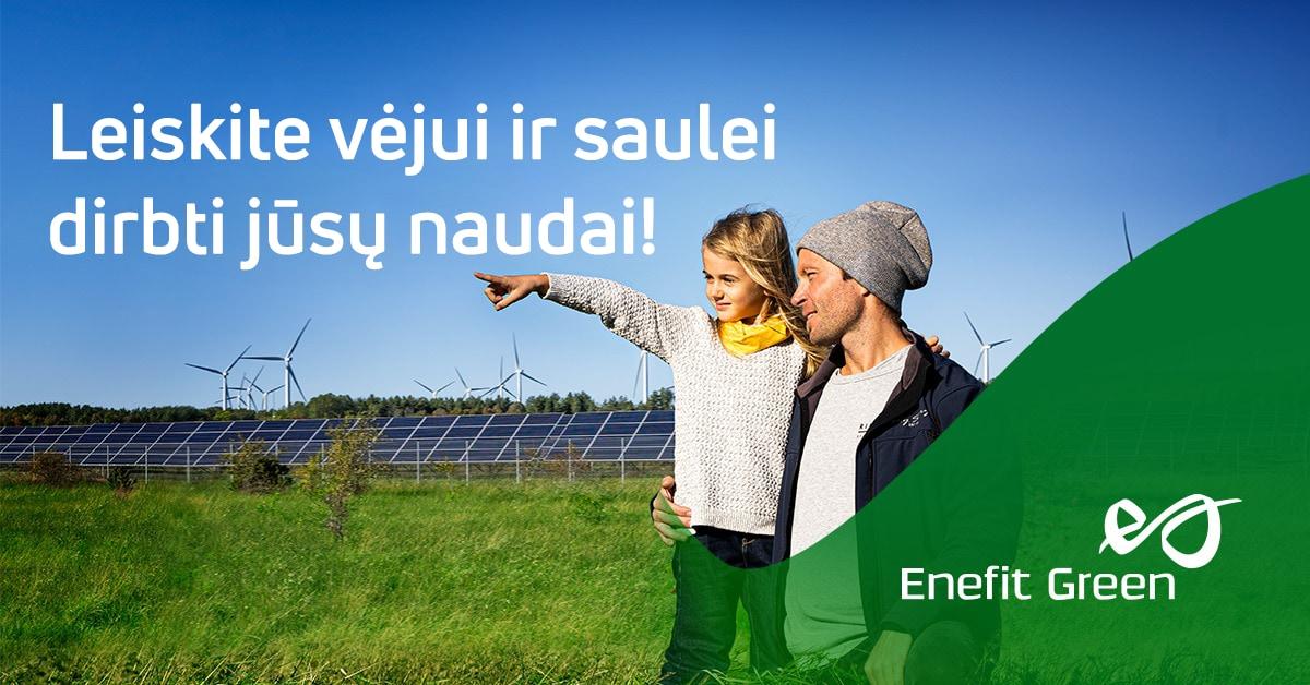 """""""Enefit Green"""" pradeda pirminį viešą akcijų siūlymą"""