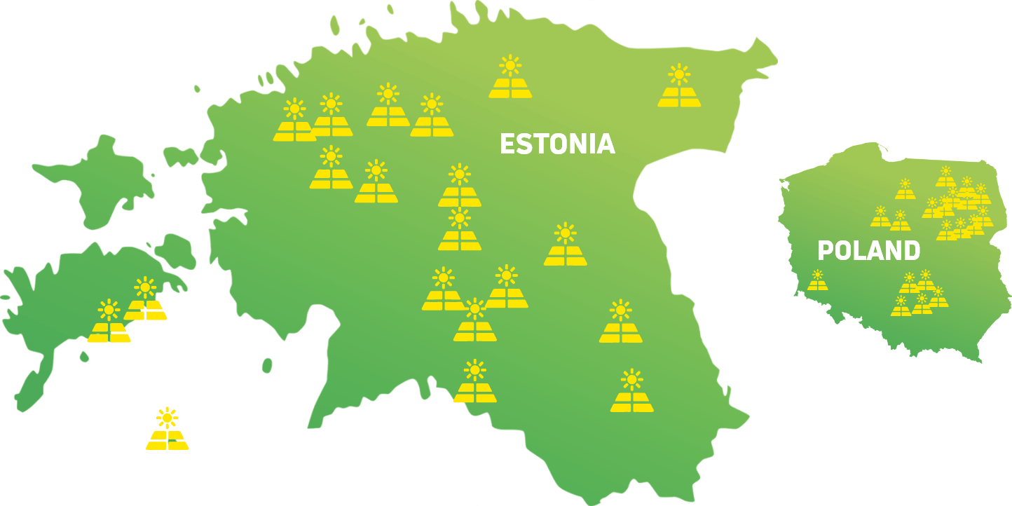 We currently produce solar energy in Estonia and Poland