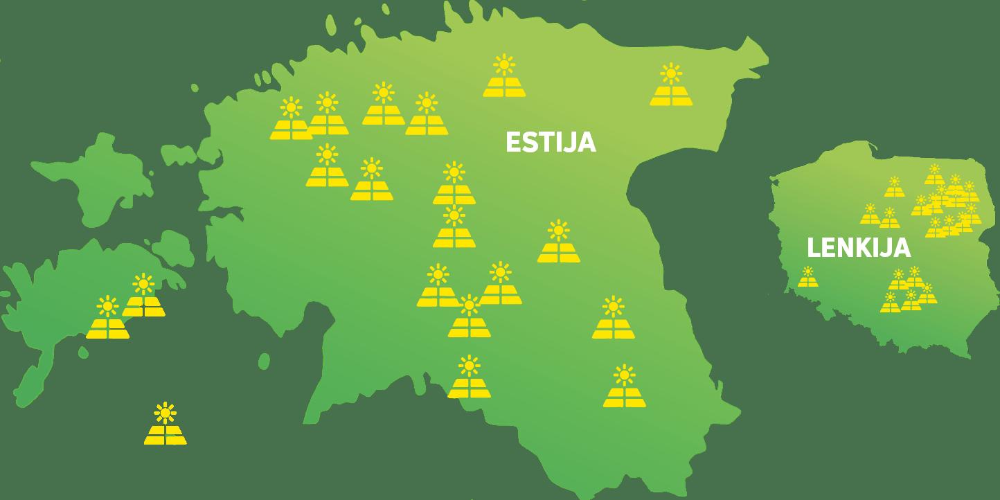 Toodame täna päikeseenergiat Eestis ja Poolas
