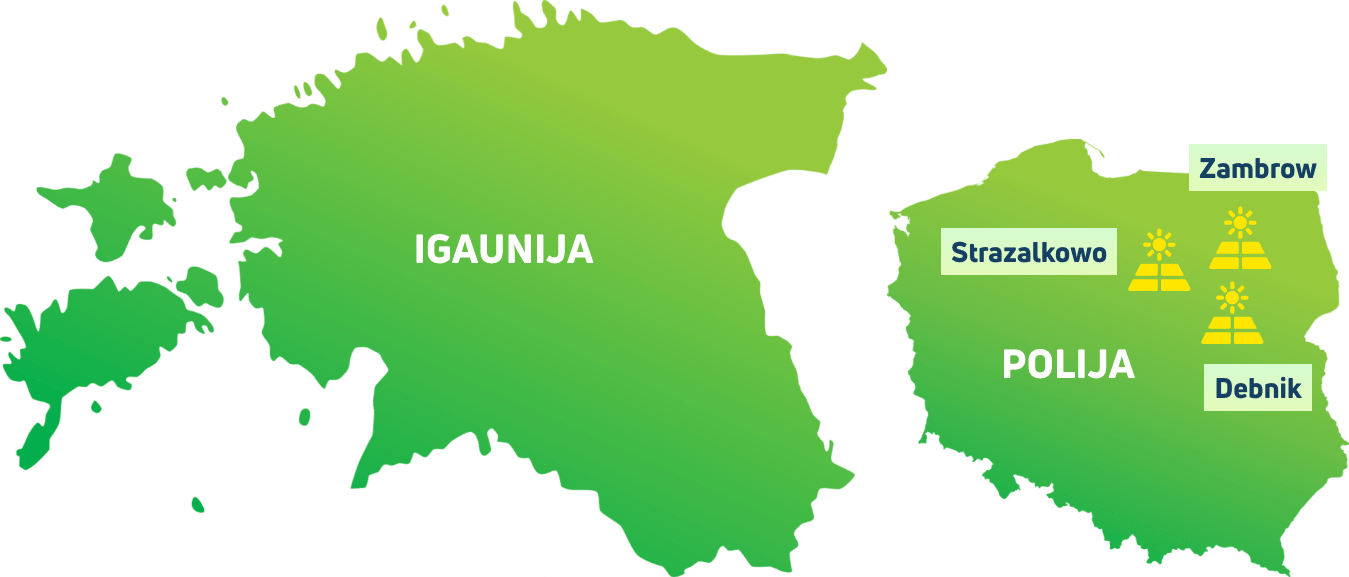 We develop solar energy in Estonia and Poland