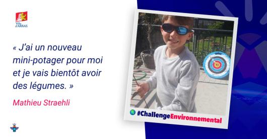 Portrait d'un écolier engagé : Mathieu, 9 ans