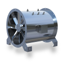 SFTA Air Supply Fan—tube-axial duct fan used to supply combustion air or make-up air into mechanical rooms