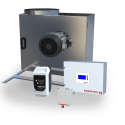 MBES Building Exhaust System F—ventilation system with box fan, modulating pressure control, and MSC E3 motor controller
