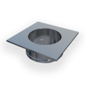 ASCA Steel Chimney Adapter—provides support for the installation of an RS or RSHT chimney fan on a round air-cooled steel chimney