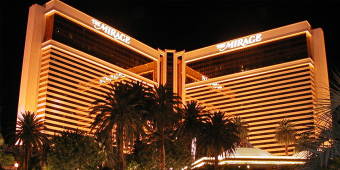 The Mirage Casino exterior at night