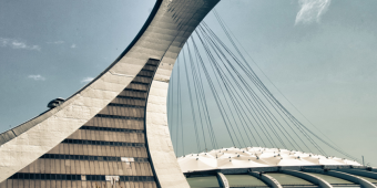 Olympic Stadium Montreal exterior