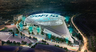 SoFi Stadium and entertainment complex in Inglewood, CA - the most expensive sports venue ever built