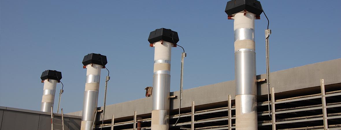 KHH Bahrain ventilation system with ENERVEX chimney fans