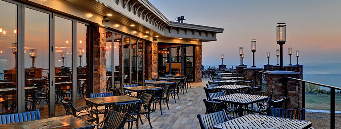 Blue Mountain Ski Resort outdoor dining area