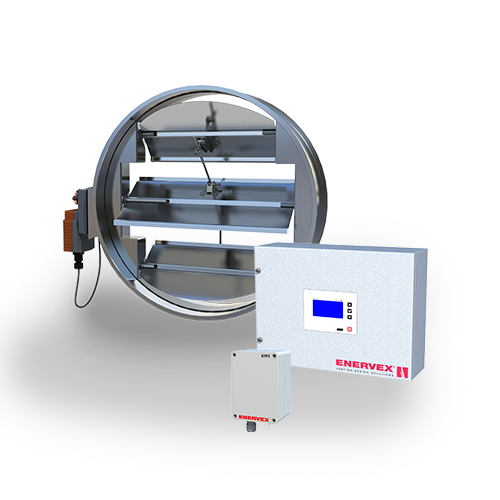 MODS Modulating Overdraft Damper System with modulating damper and fan control, over pressure switch
