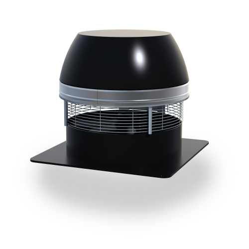 RSHT Chimney Fan—high-temperature exhaust fan used in venting solid-fuel fireplaces, BBQs, pizza ovens and stoves