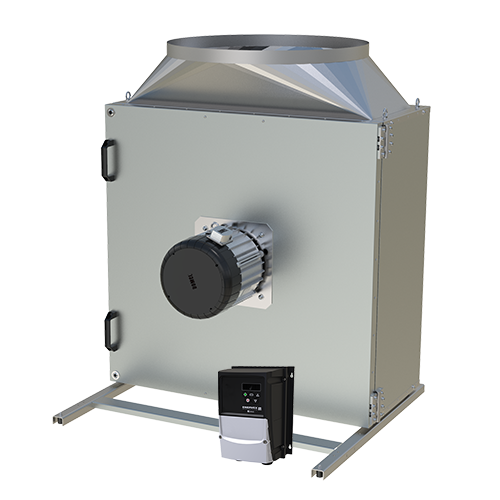 BEFx Box Fan—variable-volume centrifugal exhaust box fan with a capacity of more than 6,000 CFM