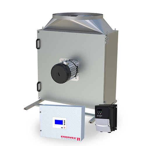 MCASx Modulating Combustion Air System X with box fan, modulating pressure controller and fan control